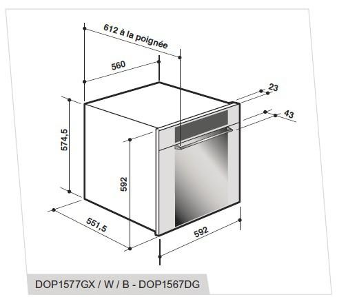 Integreeritav ahi De Dietrich DOP1567M