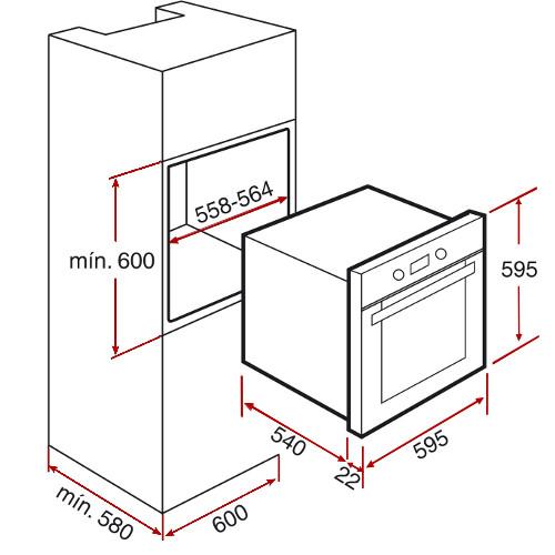 Integreeritav ahi Teka HL840B valge