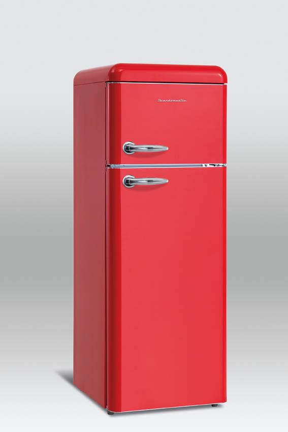 Retro refrigerator Scancool RKF201