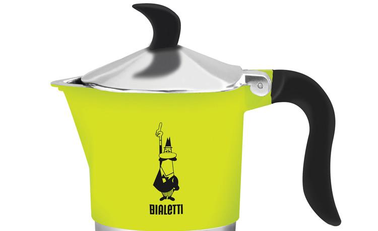Espressokann Bialetti Fiammetta 3 tassile fluo laimiroheline
