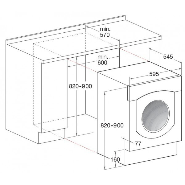 Integreeritav pesumasin Hotpoint-Ariston BWMD742EU