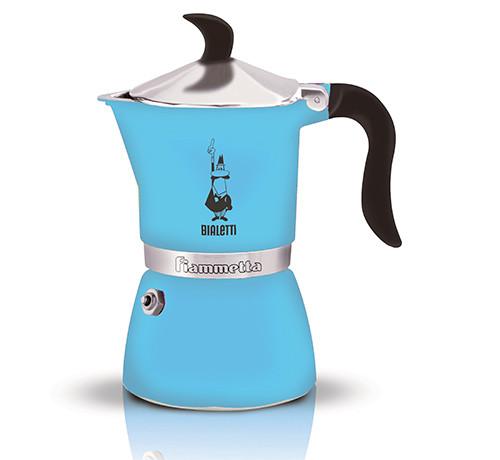 Espressokann Bialetti Fiammetta 3 tassile fluo helesinine