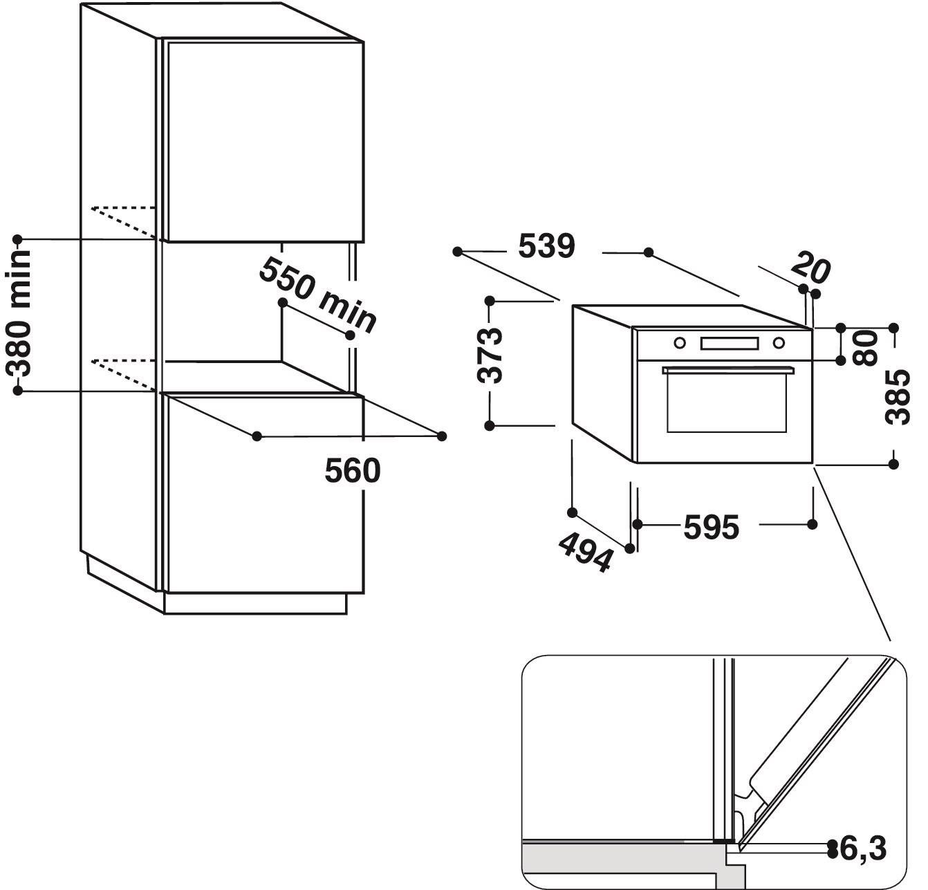 Integreeritav mikrolaineahi Hotpoint-Ariston MD664BLHA