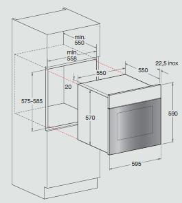 Integreeritav ahi Hotpoint-Ariston FK1041L.20X/HA(EE)