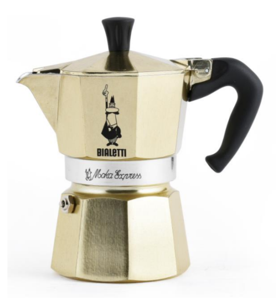 Espressokann Bialetti Moka Express 6 tassile kuldne