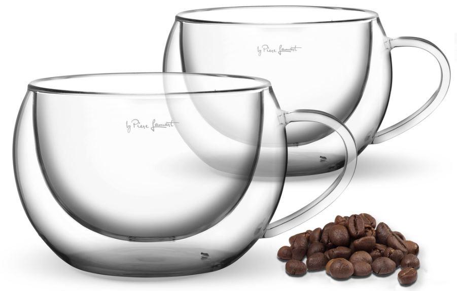 Borosilikaadist cappuccino tassid Lamart LT9012 2tk