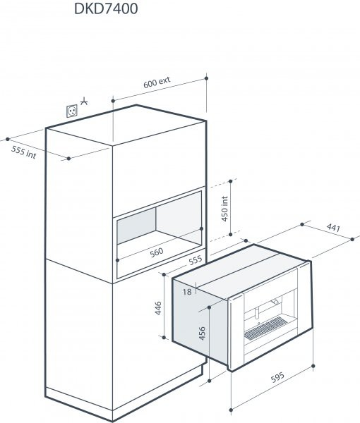 Integreeritav espressomasin De Dietrich DKD7400A