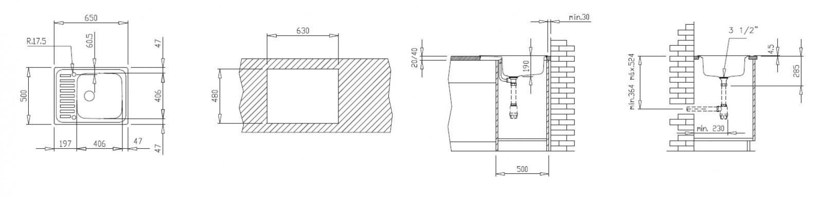 Valamu Teka Classic 1C CN (30000056)
