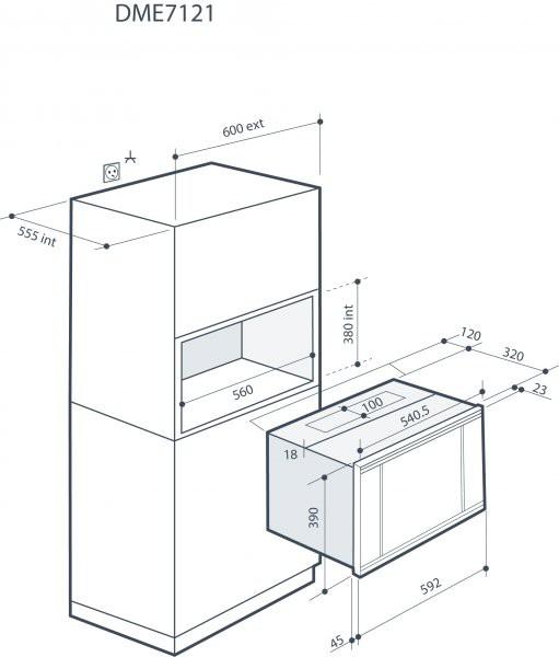 Integreeritav mikrolaineahi De Dietrich DME7121W