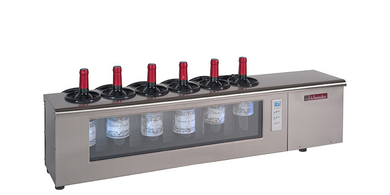 The system for cooling wine La Sommeliere