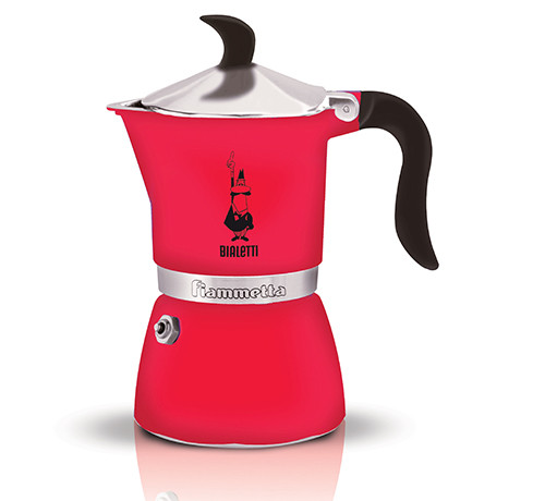 Espressokann Bialetti Fiammetta 3 tassile fluo maasikapunane