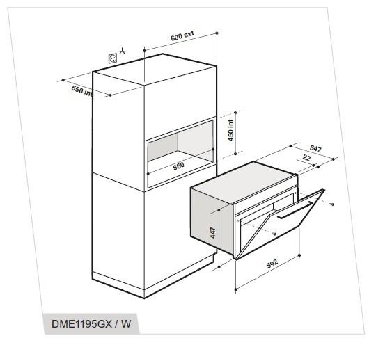 Integreeritav mikrolaineahi De Dietrich DME1195GX