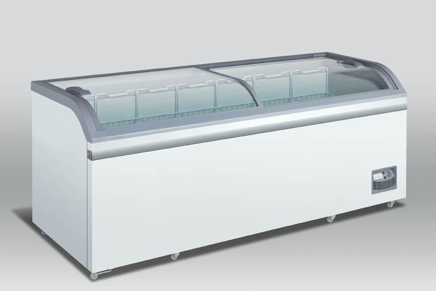 Klaaskaanega sügavkülmkirst Scandomestic XS801