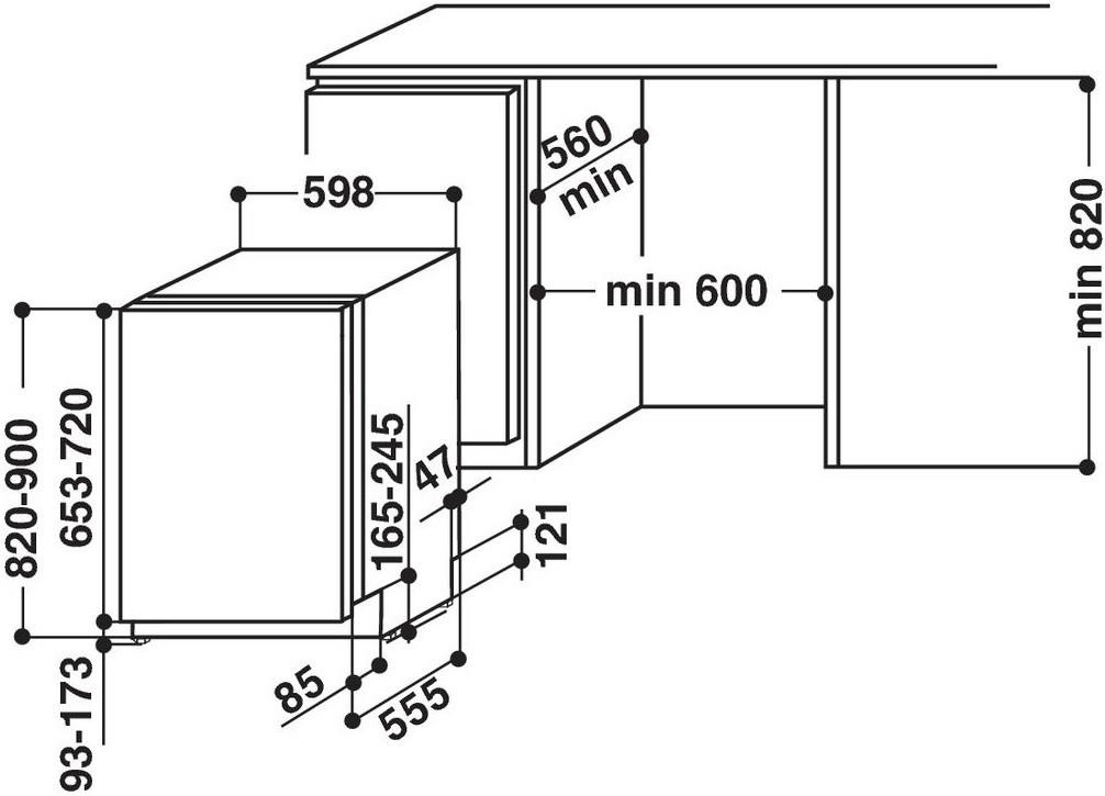 Integreeritav nõudepesumasin Hotpoint-Ariston HIO3O32WC