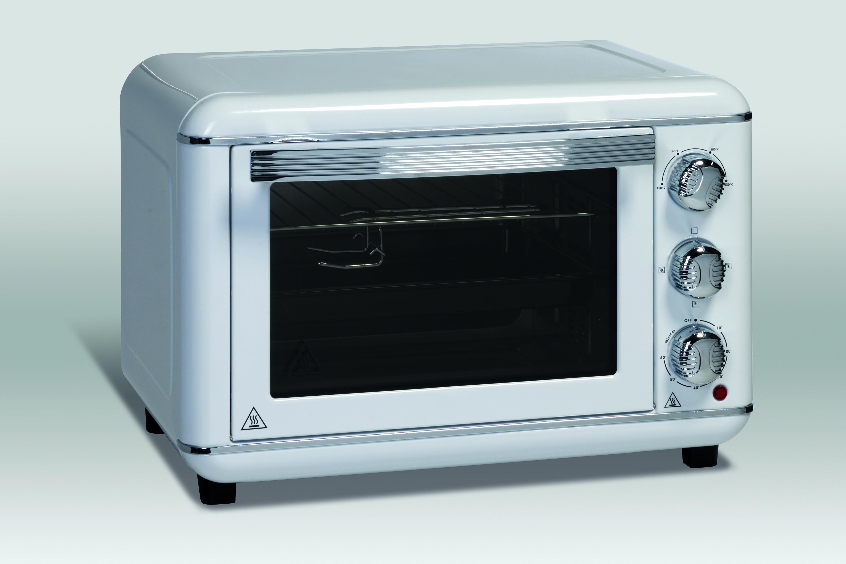 Retro style mini oven Scancool MIO23W white
